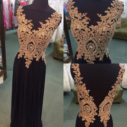 Prom Dress,Long Black Evening Dress..