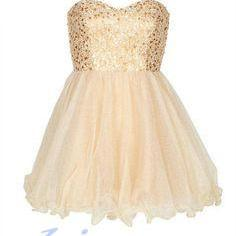 Champagne Homecoming Dress,Sequin H..