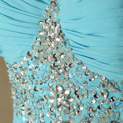 Blue Prom Dresses,A-Line Prom Dress..