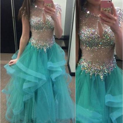 Ball Gown Prom Dresses,Blue Prom Dr..