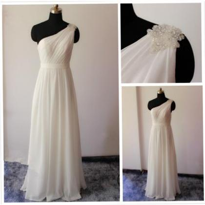 One Shoulder Bridesmaid Gown,Pretty..
