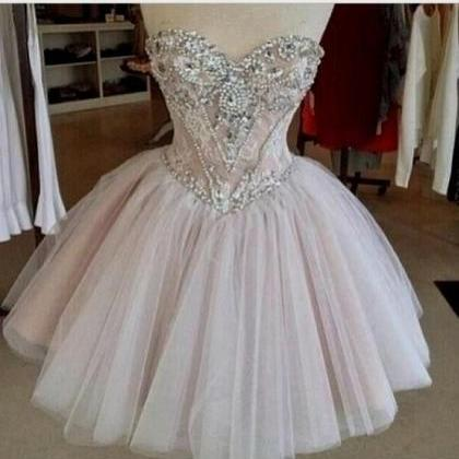 Homecoming Dress,Tulle Homecoming D..
