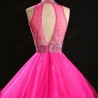 Tulle Homecoming Dress,Pink Homecom..