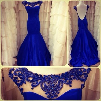 Royal Blue Prom Dress,Prom Dress,Ba..