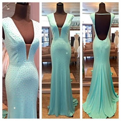 Mint Green Prom Dresses,Evening Dre..