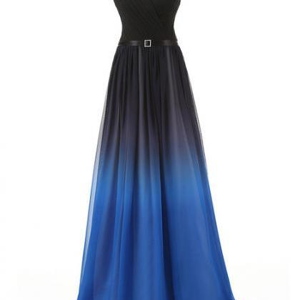Gradient Prom Dress,Ombre Evening D..