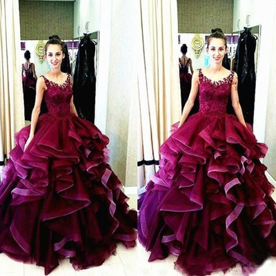 Gorgeous Ball Gown Prom Dresses,Qui..