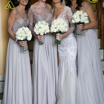 cheap bridesmaid dress ,chiffon bri..