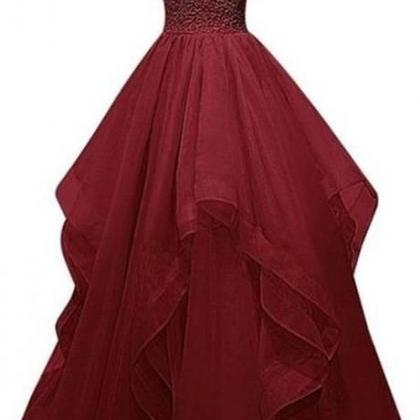 Burgundy Prom Dresses,Wine Red Prom..