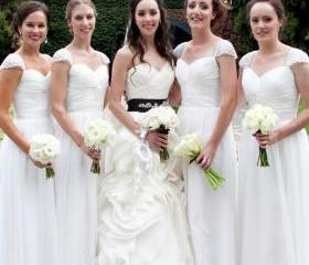 White Bridesmaid Gow..