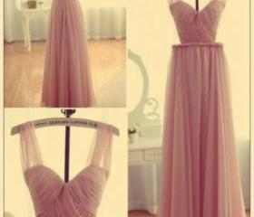 Pink Bridesmaid Gown..