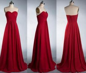 Red Bridesmaid Gown,..