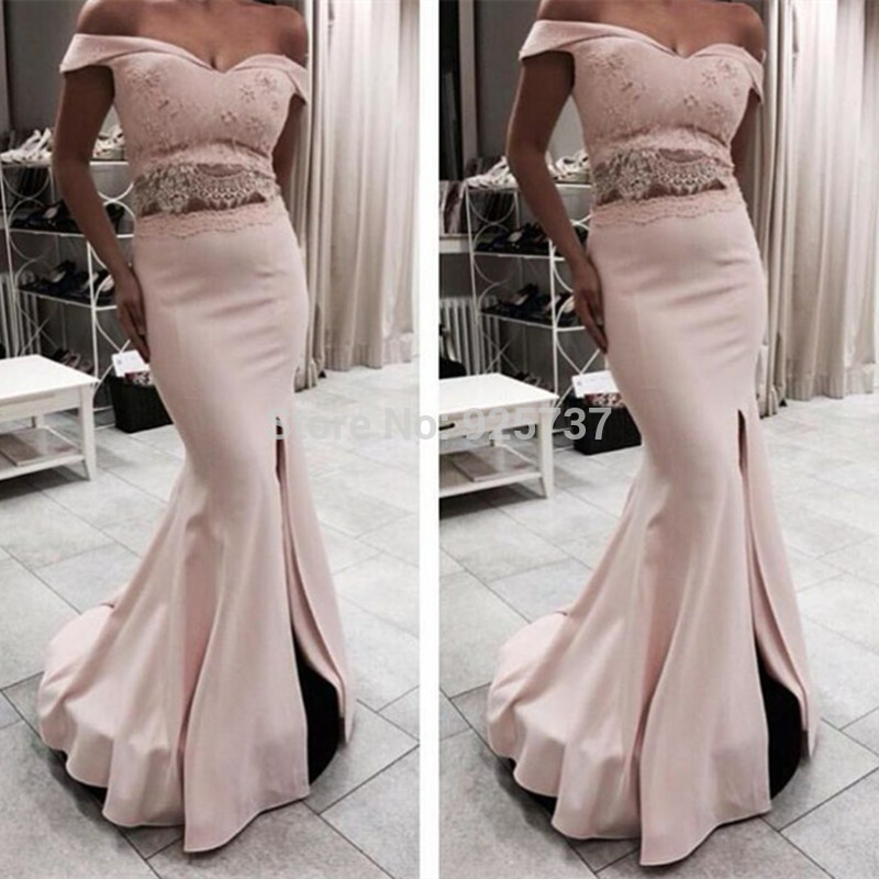 c40e3f6be398 Pink Prom Dresses,2 pieces Prom Gowns, Pink Prom Dresses,2 piece Party