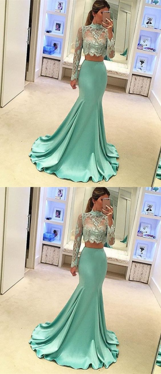 79bfe1e5428caf New Arrival Mermaid 2 Piece Prom Dress For Women P1738 on Luulla