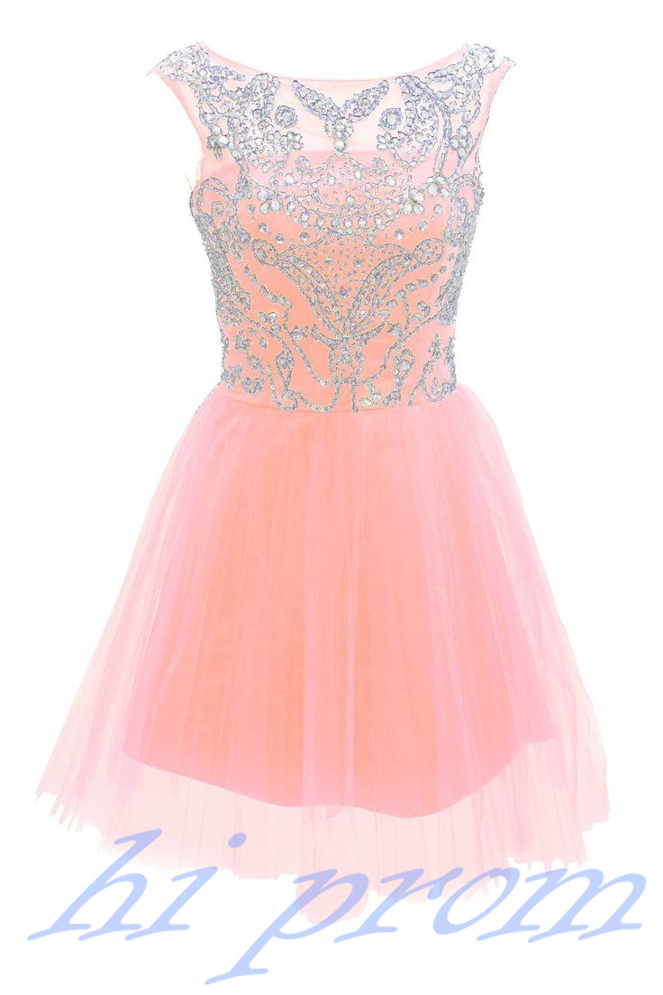 Short Pink Homecoming Dresses 2015