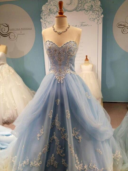 Wedding Dresses,Blue Wedding Gown,Tulle Wedding Gowns,Elegant