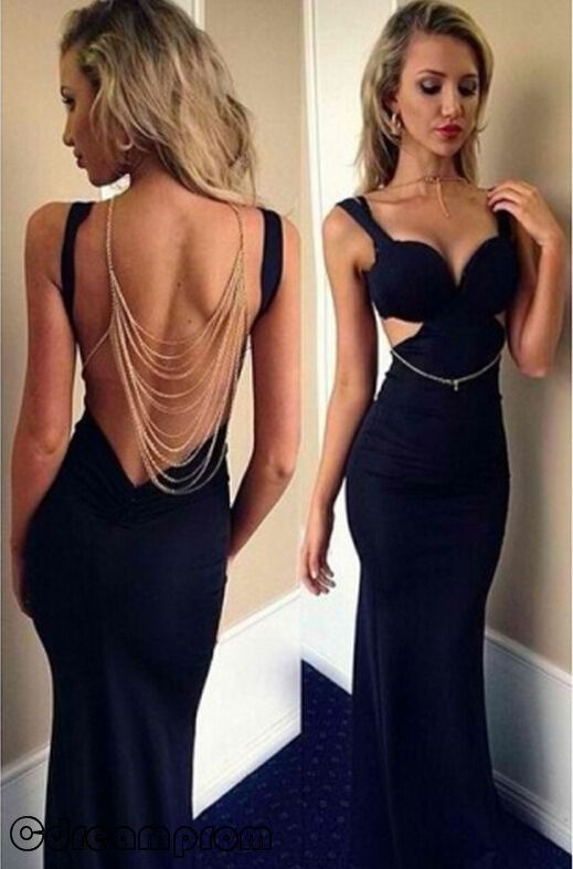 Sexy Long Black Formal Dresses