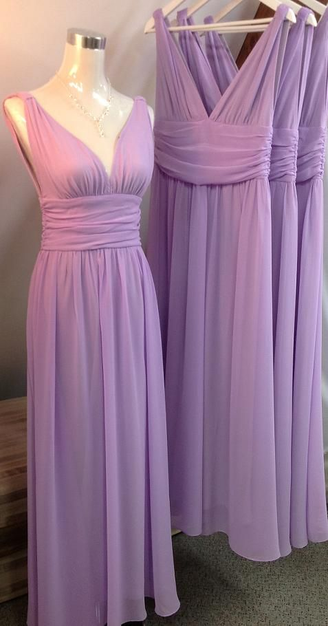 9ad1a190a20 Lilac Bridesmaid Gown