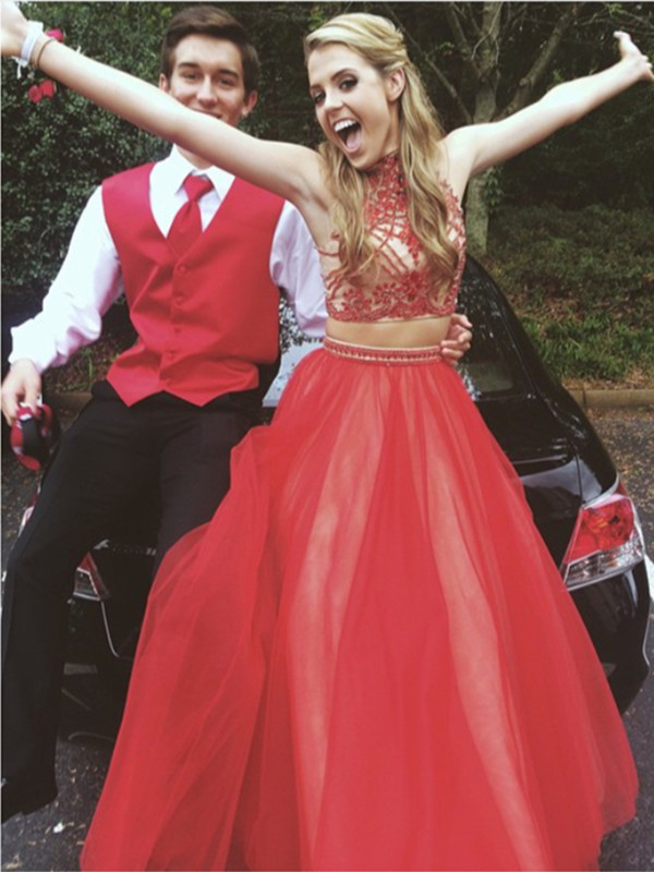 2 Piece Prom Gowntwo Piece Prom Dressesred Evening Gowns2 Pieces