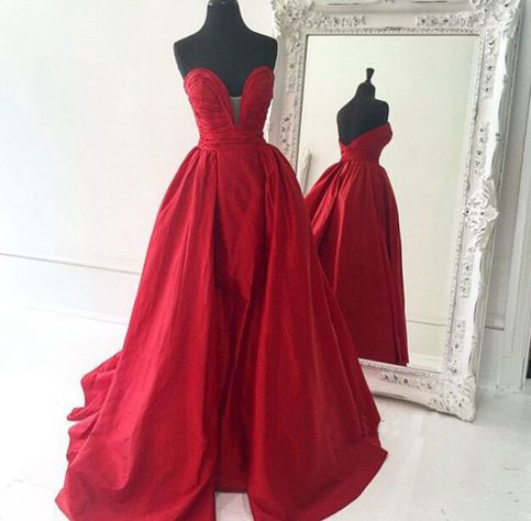 7ff6d4173e Red Prom Dresses,Simple Prom Dress,Sexy Prom Dress,Cheap Prom Dresses,2016 Formal  Gown,Satin Evening Gowns,Ball Gown Party Dress,Prom Gown For Teens