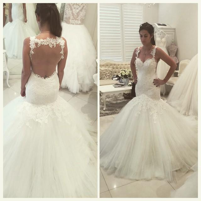 White Wedding Dressesmermaid Wedding Gownlace Wedding Gownslace