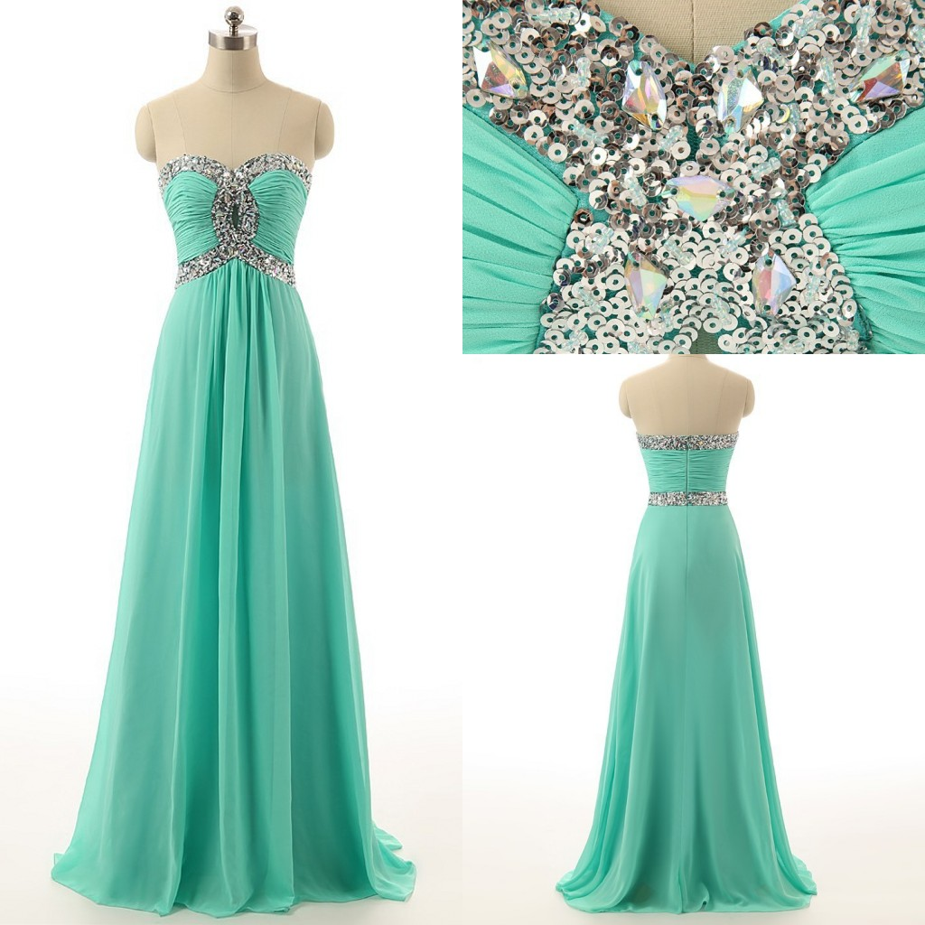 Blue Prom Dresses,Sweetheart Prom Gowns,Sparkle Prom Dresses,2016 ...