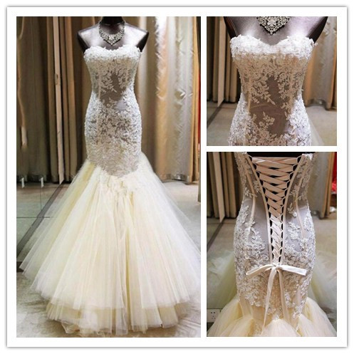 Wedding Dresses 2016 Wedding Gown Lace Wedding Gowns Ball Gown Bridal Dress Fitted Wedding Dress Corset Brides Dress Vintage Wedding Gowns Straps