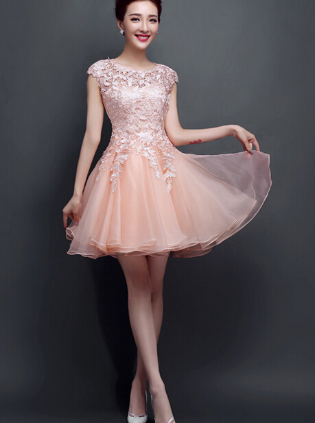 59a502b627e1 Blush Pink Homecoming Dress,Homecoming Dresses,Homecoming Gowns,Short Prom  Gown,Blush Pink Sweet 16 Dress,Homecoming Dress,Cocktail Dress,Evening Gowns