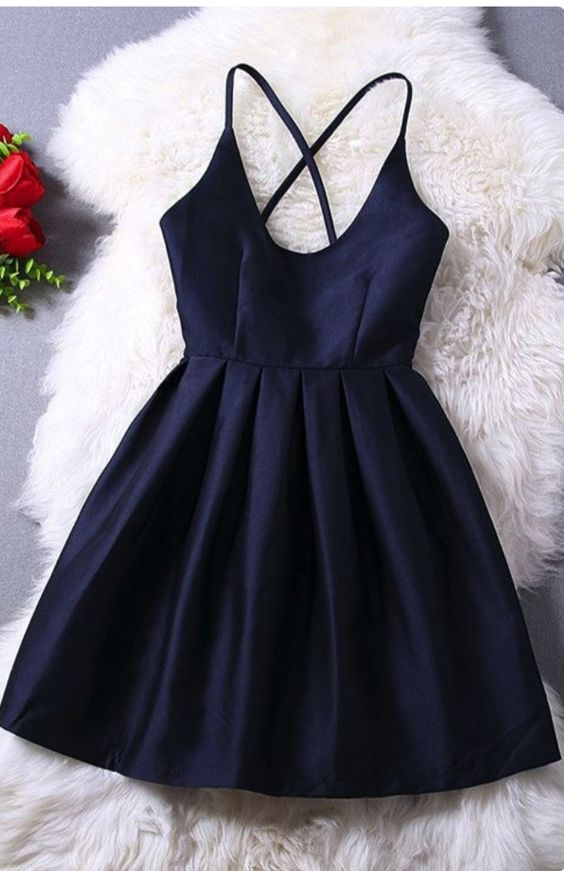 2effe552a24 Elegant Navy Blue Homecoming Dress Short Prom Dress Sweet 16 Gowns Modest  Evening Gowns For Teens