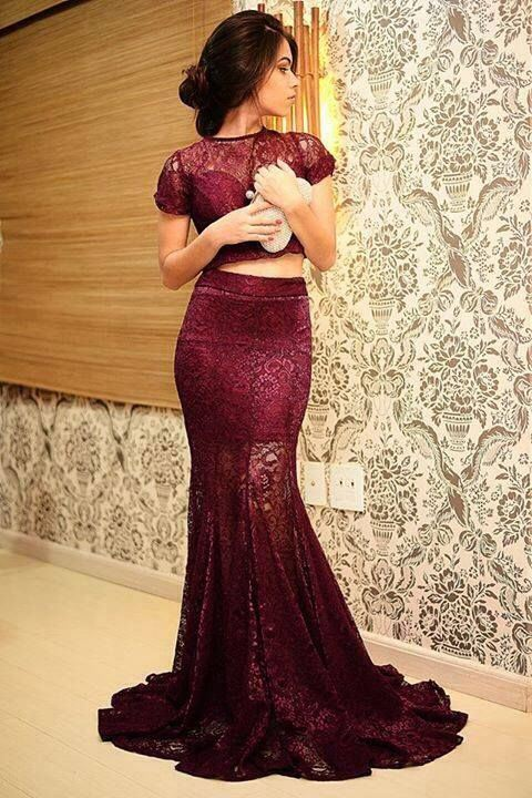 2 Piece Prom Gown,Two Piece Prom Dresses,Burgundy Evening Gowns,2 Pieces Party Dresses,Wine Red Evening Gowns,Formal Dress,Evening Gowns For Teens