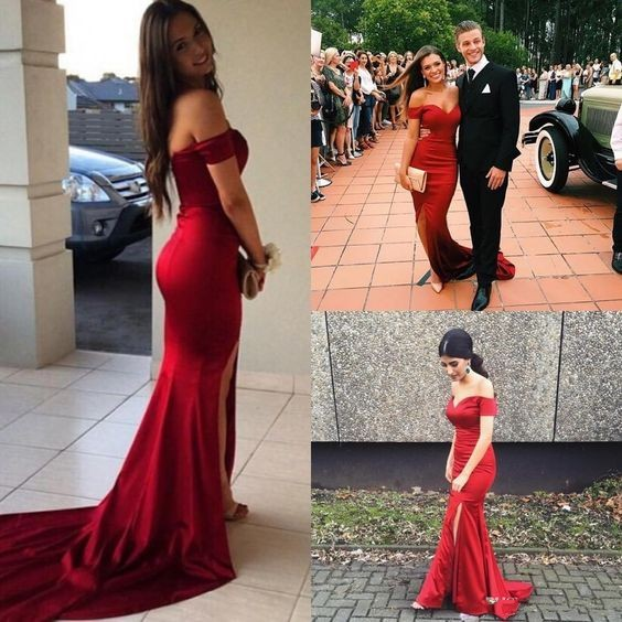 Mid Length Red Formal Dresses