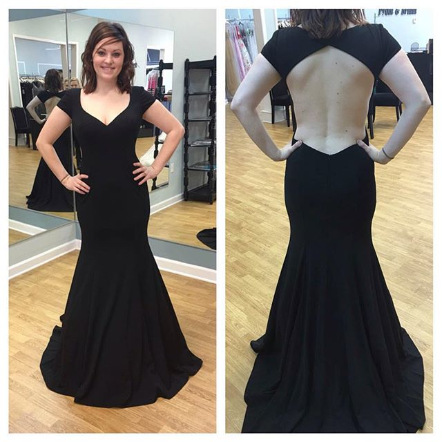 1245dfb7df92 Black Prom Dresses,Mermaid Prom Dress,Simple Prom Gown,Prom Dresses,Sexy