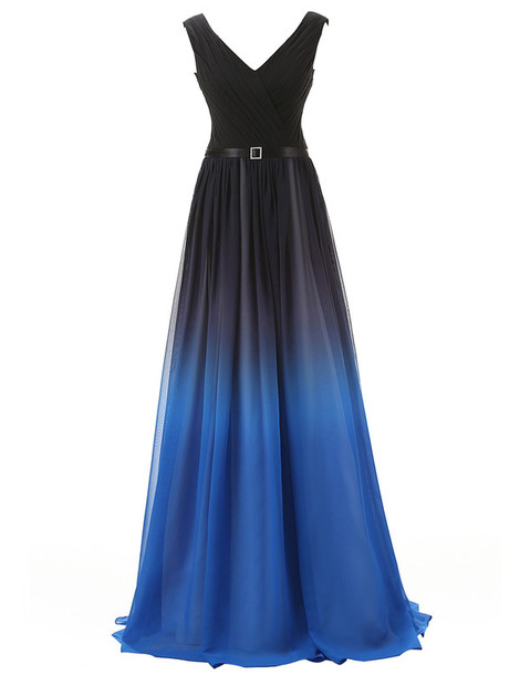 Gradient Prom Dress,Ombre Evening Dress,Prom Dresses,Prom Gowns,Chiffon Formal Gowns,Teens Bridesmaid Gown For Teens