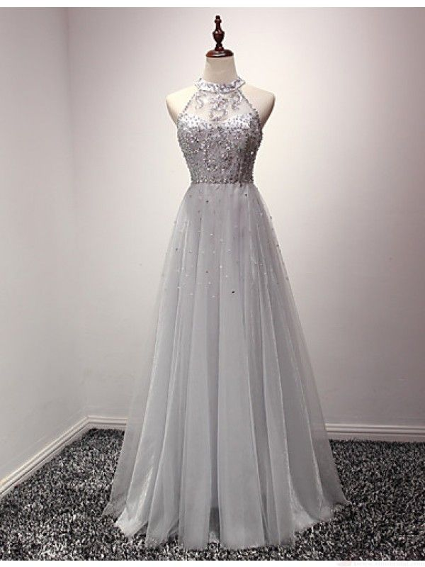 Gray Prom Dresses,LaceProm Dress,lace Prom Dress,Gray Prom Dresses ...