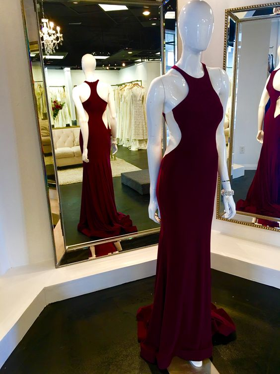 Wine Red Prom Dresses,Charming Evening Dress,Prom Gowns,Mermaid Prom Dresses,2017 New Prom Gown,Burgundy Evening Gown