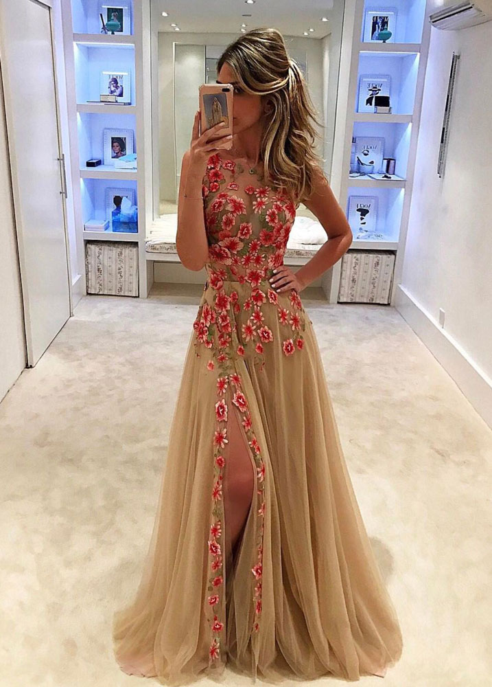 74c362db1d008 Champagne Prom Dresses,Charming Evening Dress,Champagne Prom Gowns,Champagne  Prom Dresses,