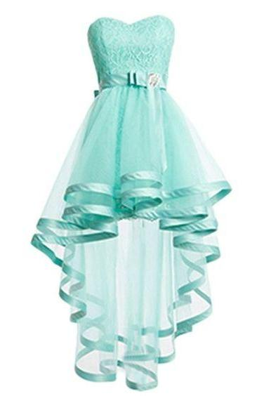 Homecoming Dress,High Low Homecoming Dresses,Mint Homecoming Gowns,Sweet 16 Dress,Plus Size Evening Dresses For Teens