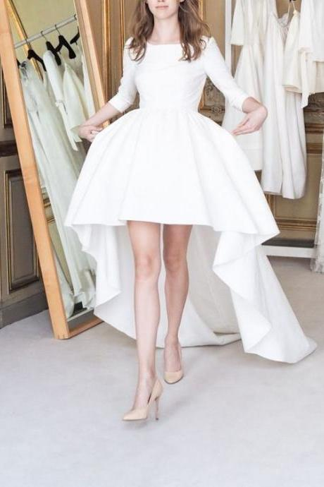White Homecoming Dress,White Homecoming Dresses,Party Dress,High Low Prom Gown,Cocktails Dress,Homecoming Dresses