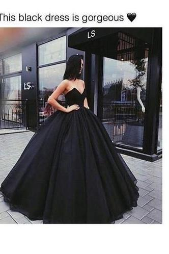 Long Prom Dress ball gown black quinceanera dresses Evening Dresses Glamorous Prom Dress Graduaction Dresses