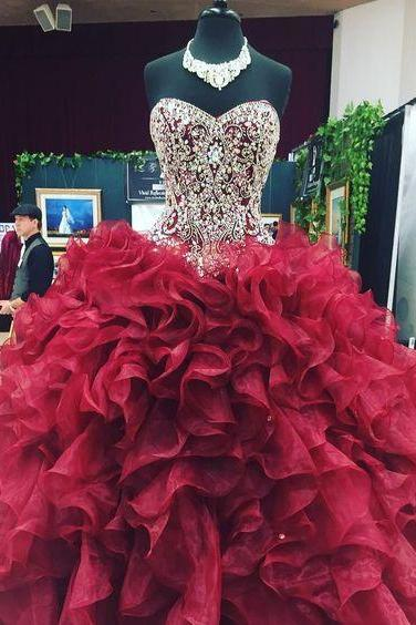quinceanera dress,sweet 16 dress,burgundy quinceanera dresses