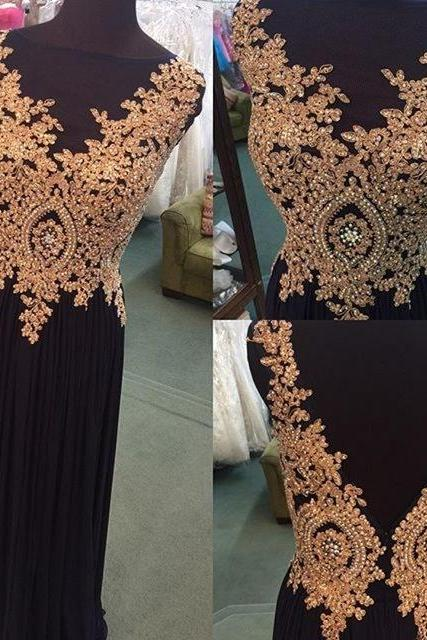 Prom Dress,Long Black Evening Dress,Appliques Prom Dresses,,Elegant Formal Evening Dress,Backless Evening Dresses,Long Formal Gowns,Charming Prom Dress