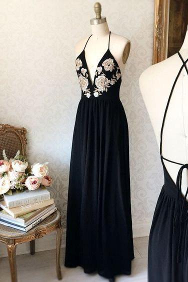 Sexy Backless Prom Dress, Long Prom Dress, Formal Evening Party Dress