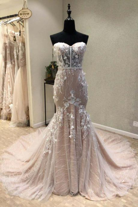 Sexy Prom Dress,See Through Prom Dress,Lace Evening Dress,Mermaid Evening Prom Dresses,Unique Party Dress,Custom Long Prom Dresses