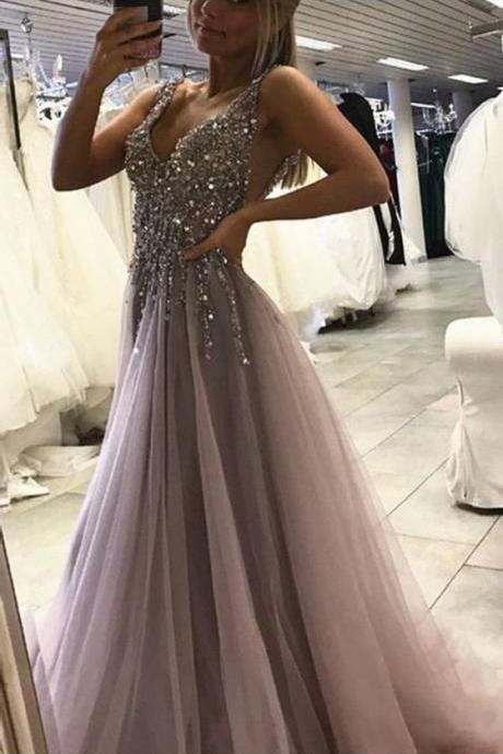 High Low Evening Prom Dresses, Long A line Party Prom Dress, Custom Long Prom Dresses, Cheap Formal Prom Dresses