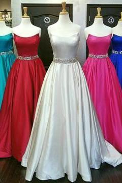 Charming A Line Prom Dress, Sexy Formal Evening Dress, Long Homecoming Dress