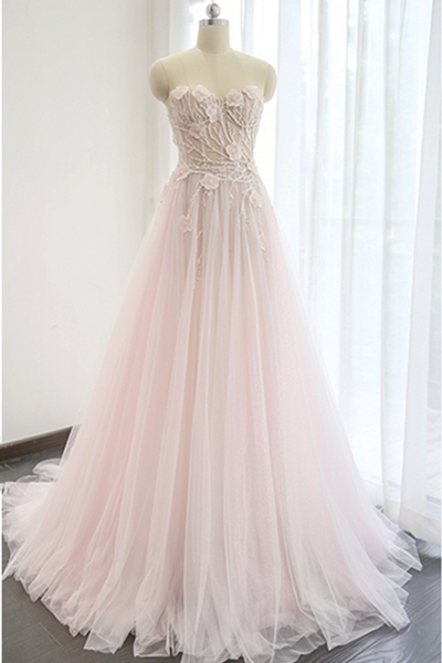 Charming Prom Dress, A Line Pink Long Prom Dresses, Sexy Sleeveless Evening Dress P0234