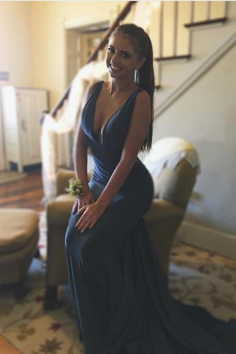 Charming Prom Dress, Long Prom Dresses, Sexy Sleeveless Evening Dress P0238