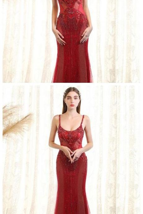Simple Prom Dresses,Red Prom Gown,Vintage Prom Gowns,Elegant Evening Dress,Cheap Evening Gowns,Modest Prom Dress P0575