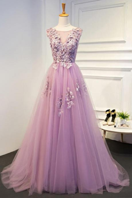 Appliques A-Line Prom Dress,Long Prom Dresses,Prom Dresses,Evening Dress, Prom Gowns, Formal Women Dress,prom dress P0700