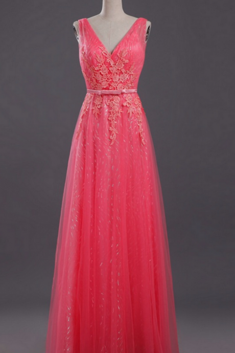 Charming Prom Dress, Elegant Prom Dresses, Tulle Evening Dress, Long Homecoming Dress P1181